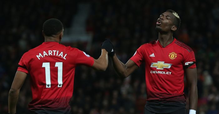 Champions League Martial and Pogba