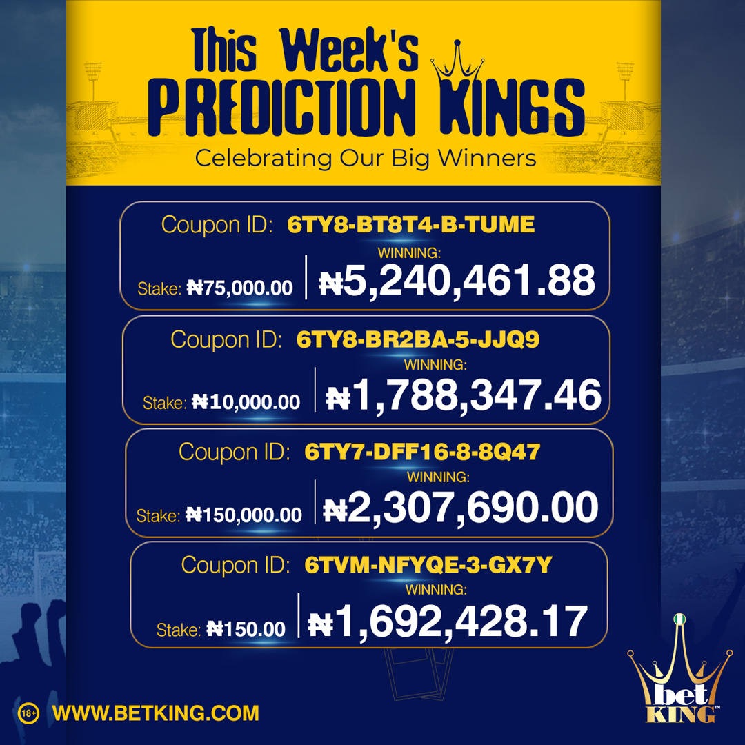 Prediction Kings for Week 33