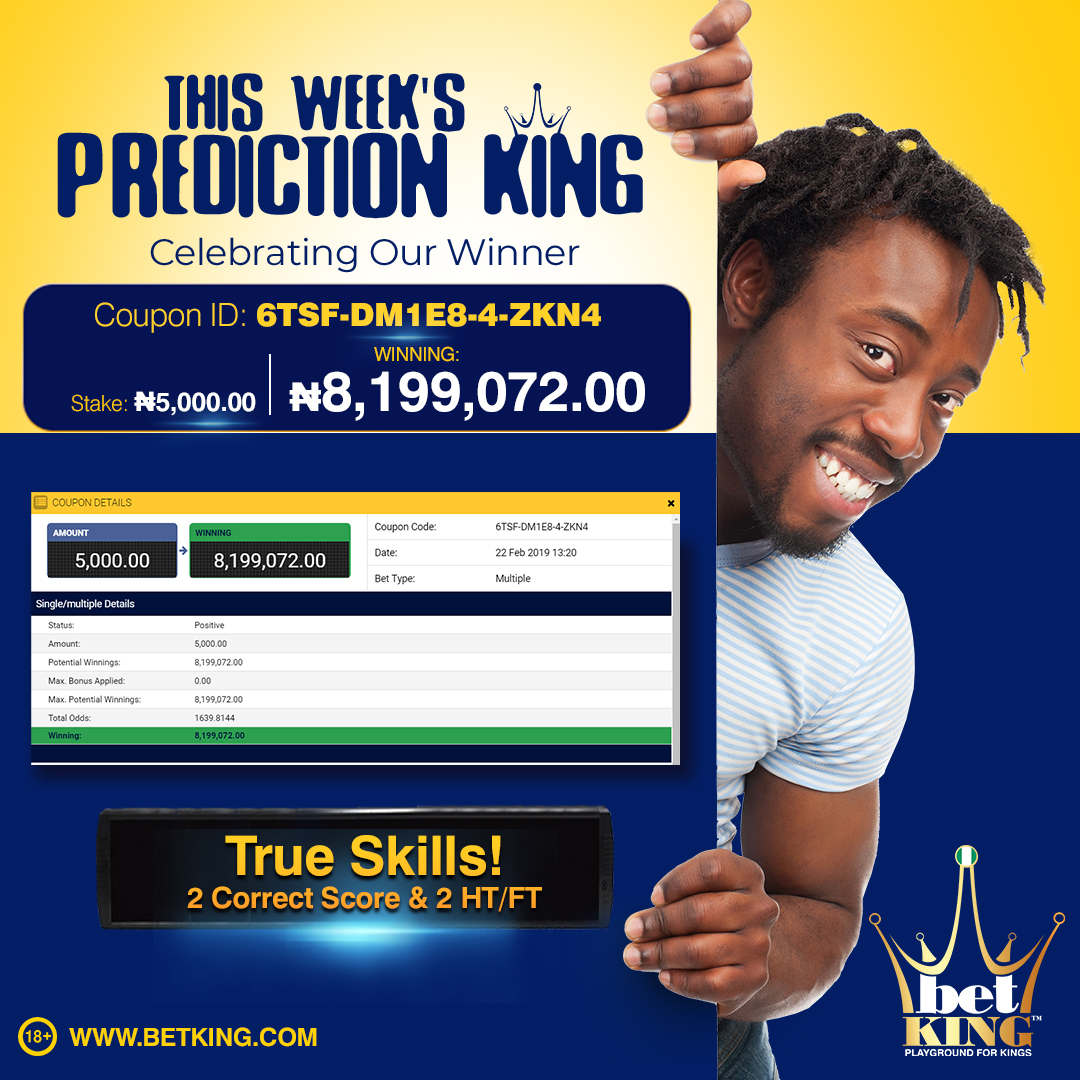 BIG WINNING - 5,000 NAIRA TO 8.1 MILLION NAIRA