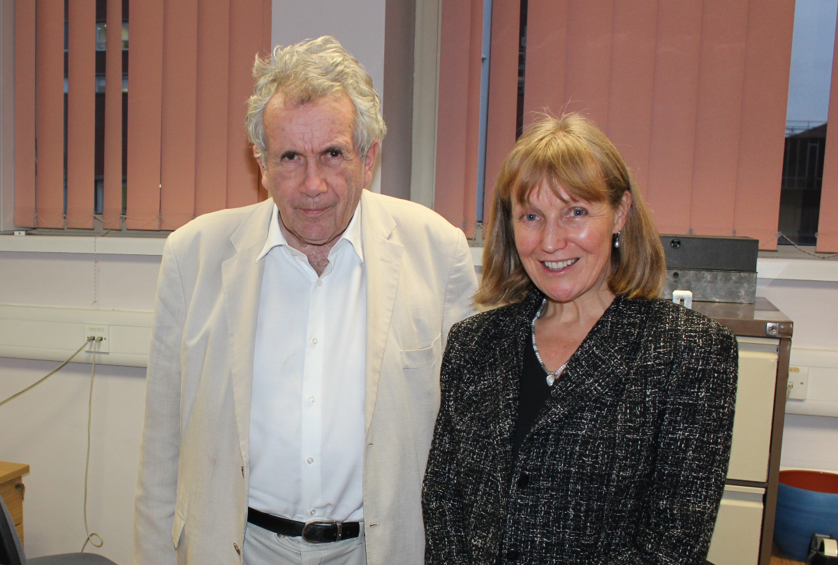 Martin Bell and Helen Witherow