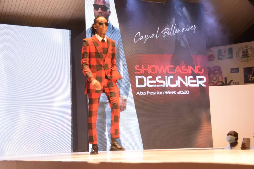 model at the runway show of aba fashion week