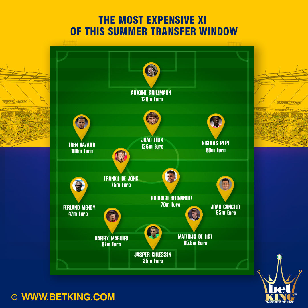 Most Expensive XI of the summer transfers