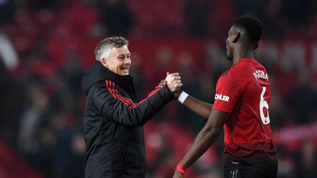 Ole Gunnar Solskajaer and Paul Pogba