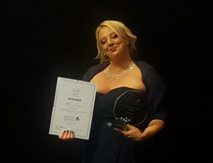 Claire Eaves 2018 Front Line Manager of the Year